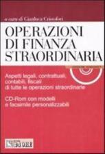 Operazioni di finanza straordinaria + CD-ROM il SOLE 24 ORE, CRISTOFORI