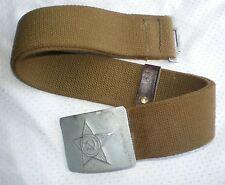 "Original Dated Soviet Russian Army Uniform Belt Buckle Size-1 (39.4""/100 cm)"