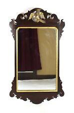 Antique Georgian 18th Century Chippendale Phoenix Mirror Giltwood Mahogany