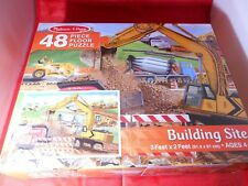"MELISSA & DOUG ""BUILDING SITE"" JUMBO JIGSAW FLOOR PUZZLE 2 X 3 FT. - 48 PIECES"