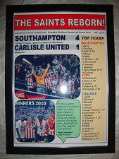 Southampton 4 Carlisle United 1 - 2010 Johnstone's Paint final - framed print