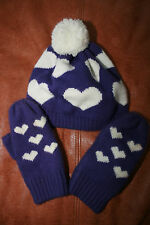 Little Girls Hat and Mittens - Size 4-16