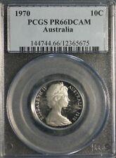 Australia 1970 10 Cents Proof PCGS PR 66 DCAM