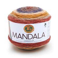 Yarn Mandala Centaur - Lion Brand Dk Multi Coloured Knitting Crochet Cake New