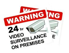 "Quantity 2 | 24hr Video Surveillance sticker | Size: 5.5""x 7"" 