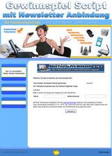 Gewinnspiel Script mit Newsletter Anbindung - PHP Script