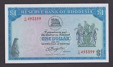RHODESIA  1 Dollar 1 - 3 - 1976  UNC   P34a  Wmk  RHODES