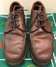 Timberland 4 Eye Classic Boat Shoe Vibram Gumlite Sole Brown US Made Men's 9.5 M
