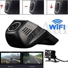 Dual Lens Wifi HD 1080P Hidden Car Vehicle DVR Video Camera Night Vision Dash