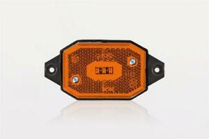 12/24V AMBER SIDE LED clearance marker light lamp reflector holder and cable ...