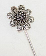 Antiqued Floral Laced Petal Silver Metal Hair Stick Pins NEW Bridal Jewelry bb4