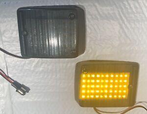 VW Bus Transporter TYPE2 BUS 1973-1979 front turn signal lenses Pair SMOKE LED