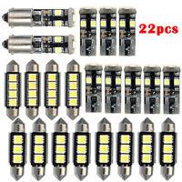 22pcs Car Interior Dome Light LED Bulbs Kit Xenon White For BMW E46 3 SERIES