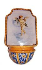 Italian Ceramic Holy Water Font Putto Del Guercino