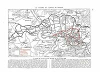 WWI Map Carte Bataille de Verdun Offensive 1916 Deutsches Heer A ILLUSTRATION