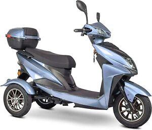 New EWheels EW-10 Sport 3-Wheel Mobility Scooter Blue