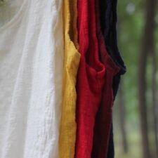 Women Linen Cotton Tank Top Camisole Loose Plain Sleeveless Basic T-shirt Casual