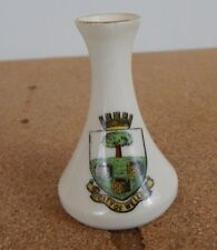 Crested Ware  Carlton China City Of Wells Vase 6.5 cm tall