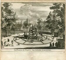 La Fontaine des Dauphins dans le jardin d'Aranjuez par Van der Aa