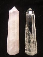 Shiv Shakti (Rose Wand and Crystal wand)