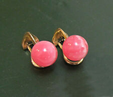 Erstklassige 585er GOLD-OHRCLIPS m. RHODOCHROSIT-Perlen • 5,5 g