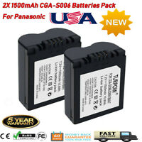 2x 1500mAh CGA-S006 Battery For Panasonic CGR-S006A1B DMC-FZ8 DMC-FZ18 DMC-FZ30