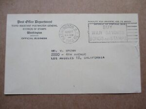 Re/ US SC# 914 POSTAL CARD / POST OFFICE DEPT. OVERRUN COUNTRY BELGIUM See Pics