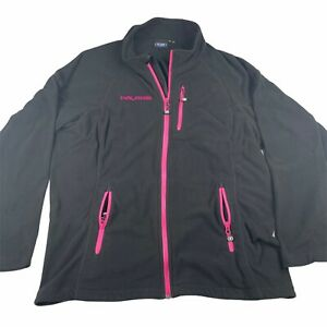 Pure Polaris Womens Full Zip Fleece Jacket Black Pink Size 3xl
