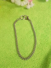 STAINLESS STEEL CURB LINK BRACELET - BIG PARROT CLASP - 24 cm NEW HANDMADE # 18
