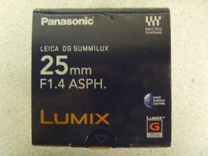 Panasonic Lumix H-X025 Lens (Black)