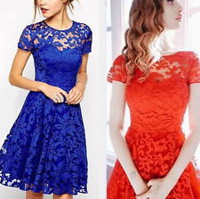 European style Big yards Temperament fashion lace dress with short sleeves