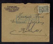 1923 Schonburg Germany Inflation Deutsche Bank Cover to Berlin