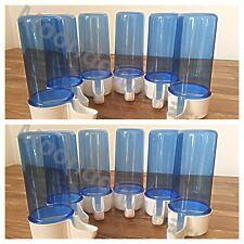 12 x Blue Feeder Drinker 110cc Bird Cage Front Anti Algae Finches Canary Aviary