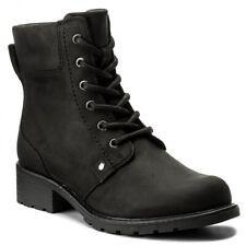 Clarks Orinoco Spice Black Nubuck Leather Zip Up Ankle Boots UK 5.5D EUR39
