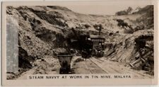 Malaya Tin Mine Using Steam Navvy To Remove Ore 1920s Trade Ad Card