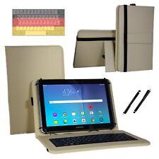 """Tastatur Case Hülle für Samsung Galaxy Tab 2 P5110 Tablet Keyboard 10.1"""" Beige"""