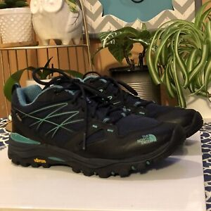 The North Face Gore-Tex/Vibram Support-(Cradle)Hiking Shoe Womens US 7.5 Navy