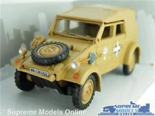 VOLKSWAGEN KUBEL WAGON TYPE 82 CAR MODEL 1:43 SAND 1940 CARARAMA ARMY CLOSED R0