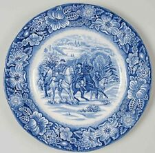 """Vtg Liberty Blue 8.5"""" Lunch Luncheon Plate Staffordshire Dinnerware SEVERAL AVAI"""