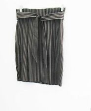 BCBG Maxazria Stella The High Waisted Skirt Brown Striped Sz 8 - NWT