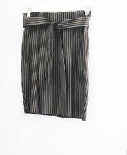 BCBG Maxazria Stella The High Waisted Skirt Brown Striped Sz 8 - NWT