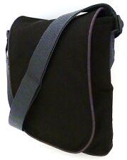 TOUGH NEOPRENE IPAD MESSENGER BAG Heavy duty Black padded satchel haversack