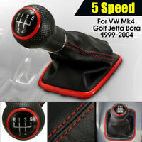 5Speed Gear Shift Knob Cover Shifter Gaiter Boot For VW MK4 Golf Jetta 1999-2004