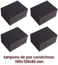 4 X tampons de pur caoutchouc 160x120x80 mm. pour Pont elevateur - bloc - Italie