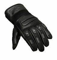 Summer Premium Leather Motorcycle Motorbike Gloves CowHide Leather