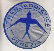 VINTAGE LUGGAGE LABEL - TRANSADRIATICA - VENEZIA