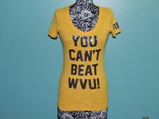 Victoria's Secret Pink West Virginia WVU Bling Sequin Graphic T Shirt sz S lknw