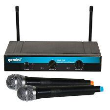 Gemini UHF-216M Dual Handheld Wireless DJ Microphone System