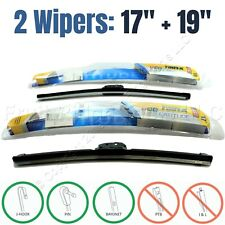 "PAIR Rain-X 17""+19"" Premium Latitude All-Weather Front Windshield Wiper Blades"