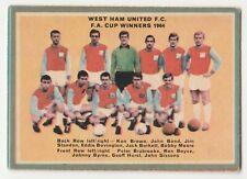 A & B C 1964 Footballers (Quiz) Card #58 Checklist West Ham Utd (Un-Marked)